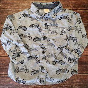 Gymboree Motorcycle Button Down Shirt